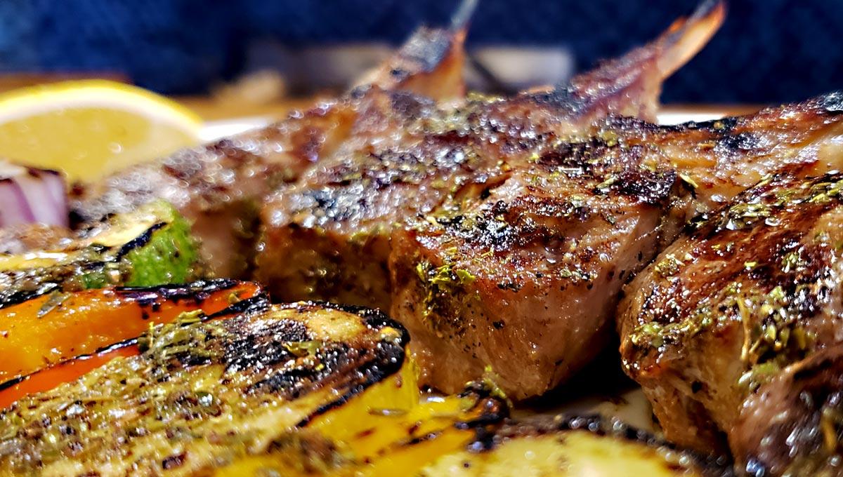 Greek lamb chops from Evanston restaurant Cross Rhodes