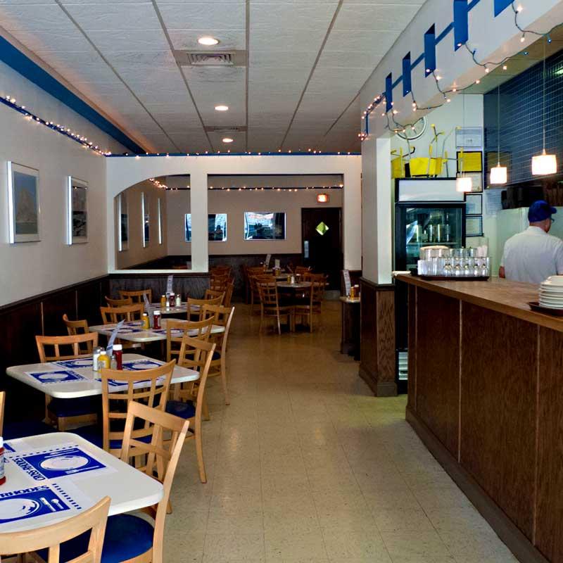 the dining room of cross rhodes restaurant in evanston